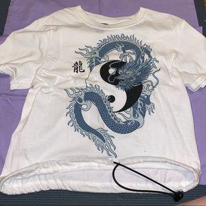 dragon yin yang t shirt
